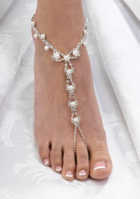 Pearl and Rhinestone Foot Jewelry