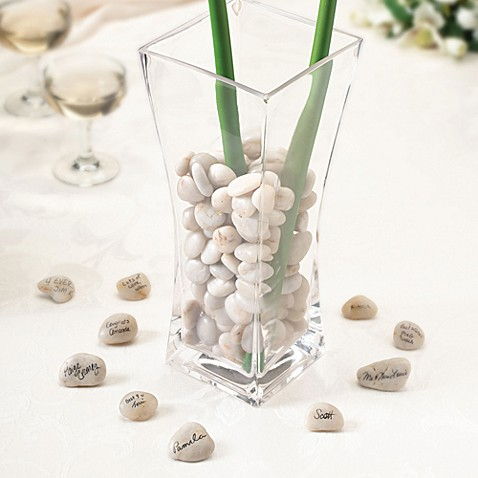 Lillian Rose™ Guest Signing Stones with Vase