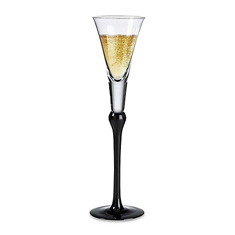 Lillian Rose™ Tall Champagne Flutes in Black (Set of2)