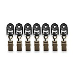 Grafton Roller Clips in Aged Brass (Set of 7)