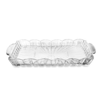 Crystal Clear Alexandria Rectangle Tray with Handles