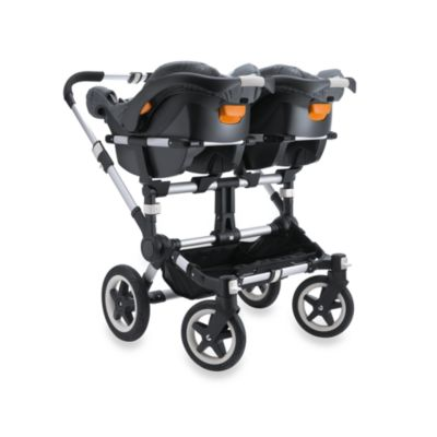 Bugaboo Donkey Stroller Base in Aluminum/Black > Bugaboo Donkey Chicco® Twin Car Seat Adapter