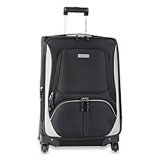 Nautica® Downhaul Black Luggage in 24-Inch Spinner