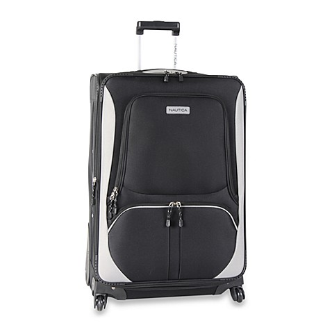 Nautica® Downhaul Black Luggage in 28-Inch Spinner