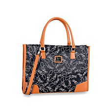 DVF Signature Collection Jacquard Fabric - Black Tote