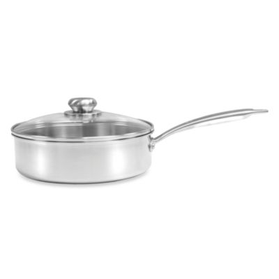 Zwilling J.A. Henckels Steel Clad Stainless Steel 2-Quart Sauce Pan with Glass Lid
