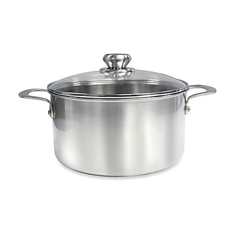 Zwilling J.A. Henckels Steel Clad Stainless Steel 8-Quart Stock Pot with Glass Lid