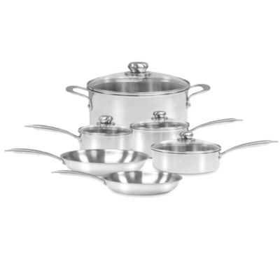 Zwilling J.A. Henckels Steel Clad Stainless Steel 10-Piece Cookware Set