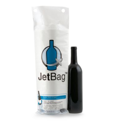 JetBags Resealable Padded Wine Bags (Set of 3)