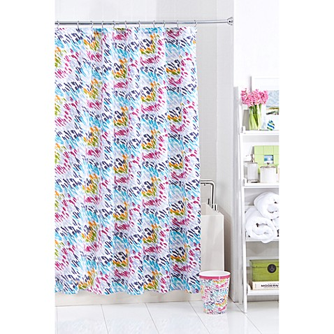 Threadless Color Race Shower Curtain