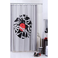 Threadless Disc Jockey Shower Curtain