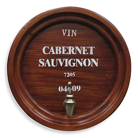 Metal Wine Topper Wall Plaque - Cabernet Sauvignon
