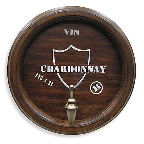 Metal Wine Topper Wall Plaque-Inchardonnay