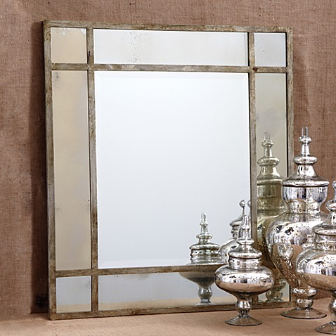 Two's Company® Paris Mansion™ Antiqued Gold Wall Mirror