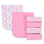Gerber® Terry Burp Cloths 6-Pack in Pink/White