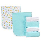 Gerber® Terry Burp Cloths 6-Pack in Green/White