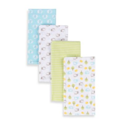 Gerber® Brushed Flannel 4-Pack Burp Cloths in Neutral