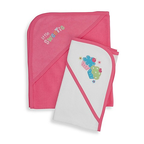 Gerber® Terry Hooded Towel Set in Pink I Love You
