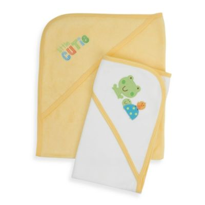 Gerber® Terry Hooded Towel Set in Green Little Cutie