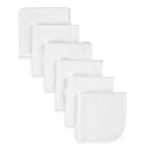 Gerber® Terry Washcloths 6-Pack in White