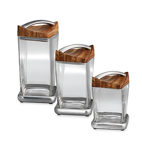 Nambe Gourmet Twist Canisters
