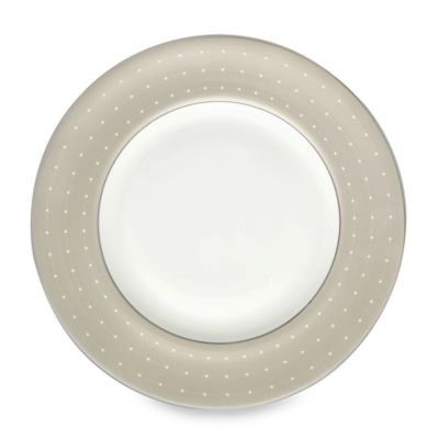 Monique Lhuillier Waterford® Etoile Platinum 9-Inch Tan Accent Plate