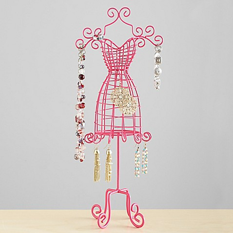 Jewelry Tree Dress Form in Pink