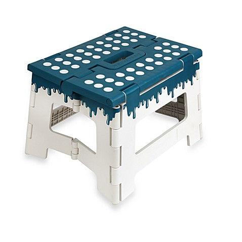Kikkerland 174 Folding Step Stool In Teal Bed Bath Amp Beyond