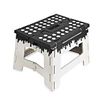 Kikkerland® Folding Step Stool in Black