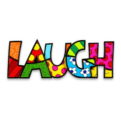 "Britto™ by Giftcraft Polyresin ""LAUGH"" Wall/Table Sign"