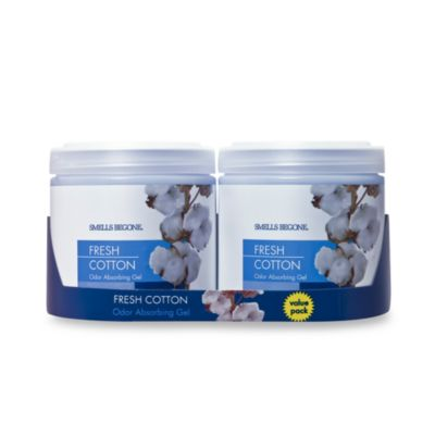SMELLS BEGONE® Fresh Cotton 15 oz. Odor Absorbing Gel Jars (Set of 2)
