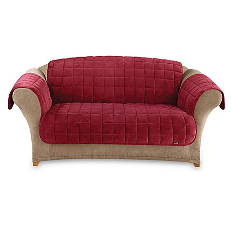 Buy Sure Fit Deluxe Pet Burgundy Furniture Loveseat Throw