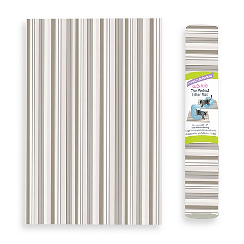 The Perfect Litter Mat in Neutral Stripe