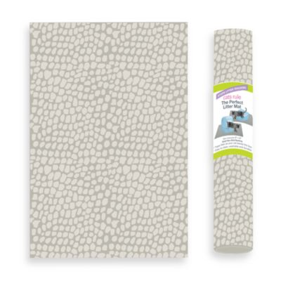 The Perfect Litter Mat in Mushroom Dot