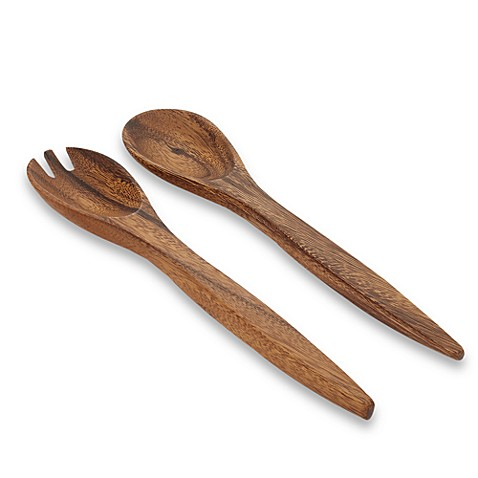 Pacific Merchants Acaciaware® Acacia Wood Salad Serving Set