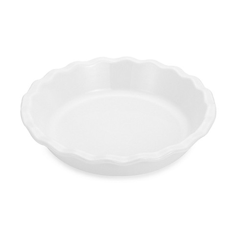Emile Henry 9-Inch Pie Dish in White
