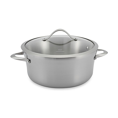 Calphalon® Contemporary Stainless Steel 6.5-Quart Soup Pot & Cover