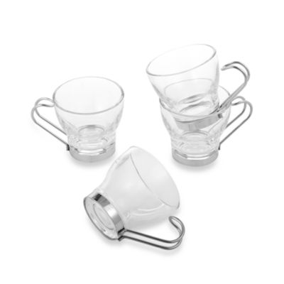 Bormioli Rocco Oslo Espresso Wire Cups (Set of Four)