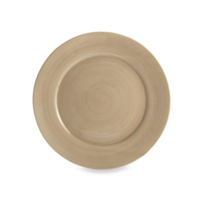 Tabletops Unlimited® Misto 11-Inch Round Dinner Plate in Light Taupe