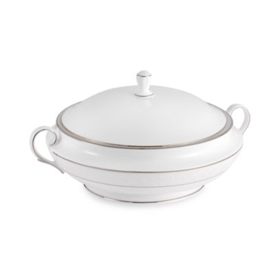 Lenox® Opal Innocence™ Covered Vegetable Bowl in White/Platinum