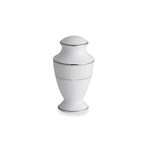 Lenox® Opal Innocence™ Pepper Shaker in White/Platinum