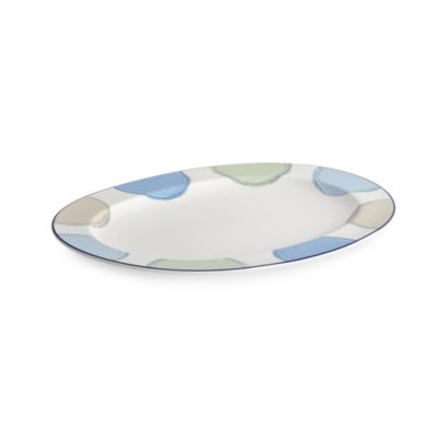 Java Blue 14-Inch Oval Platter