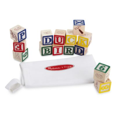 Melissa & Doug® Wooden ABC/123 Blocks