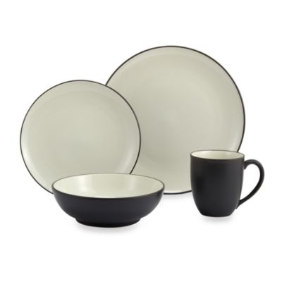 Colorwave Graphite 4-Piece Place Setting