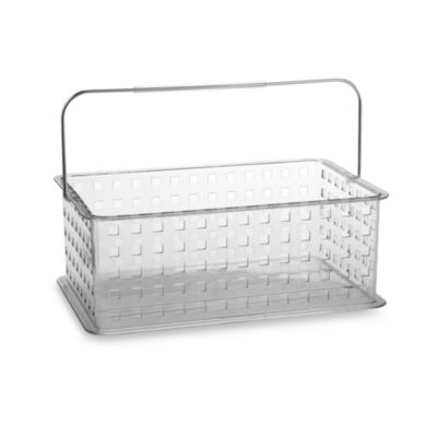 Interdesign® Zia Clear Medium Storage Basket Shower Tote