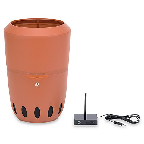 Acoustic Research® Audiovox® Rock Pot Wireless Indoor/Outdoor Speaker with Built in Planter