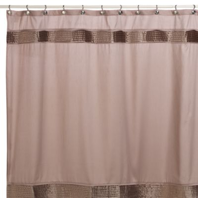 Willow 72-Inch x 72-Inch Fabric Shower Curtain in Linen