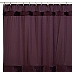 Nicole Miller® Willow 72-Inch x 72-Inch Fabric Shower Curtain in Plum