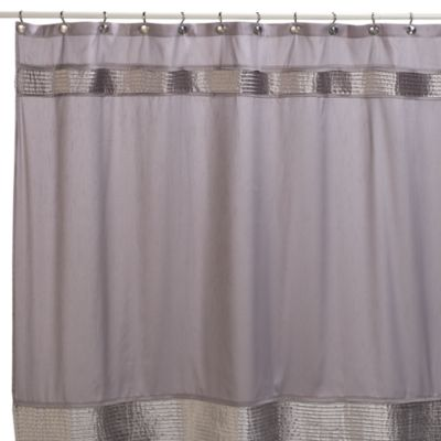 Willow 72-Inch x 72-Inch Fabric Shower Curtain in Grey