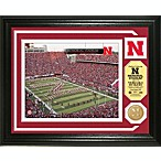 University of Nebraska Memorial Stadium Minted Team Medallion Photo Mint Frame